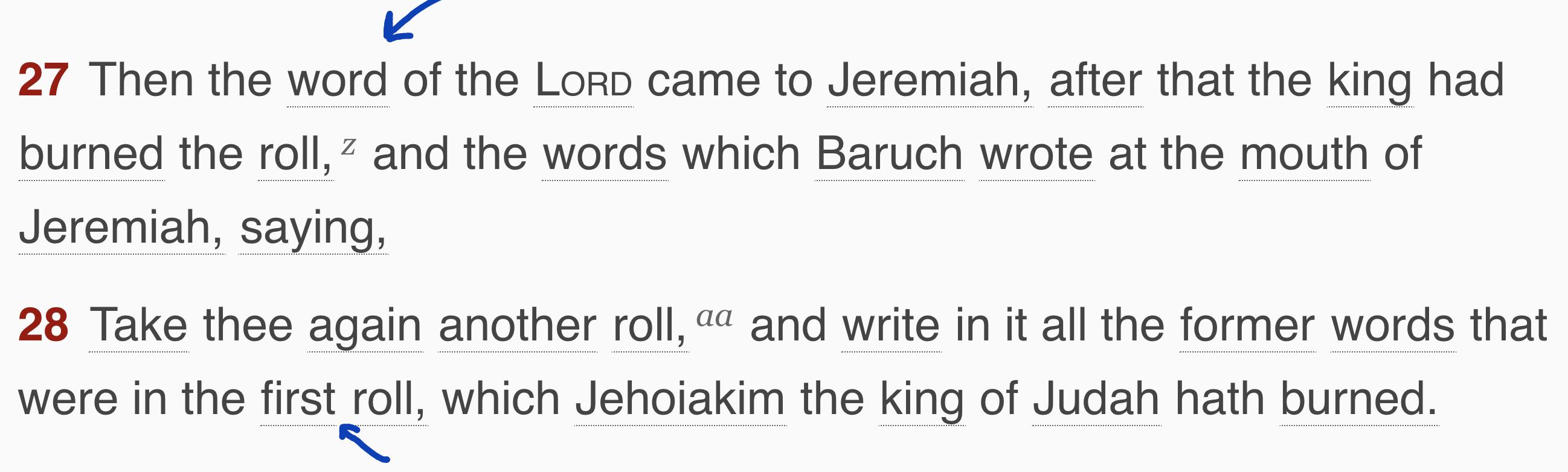 """""""Jeremiah 36"""""""