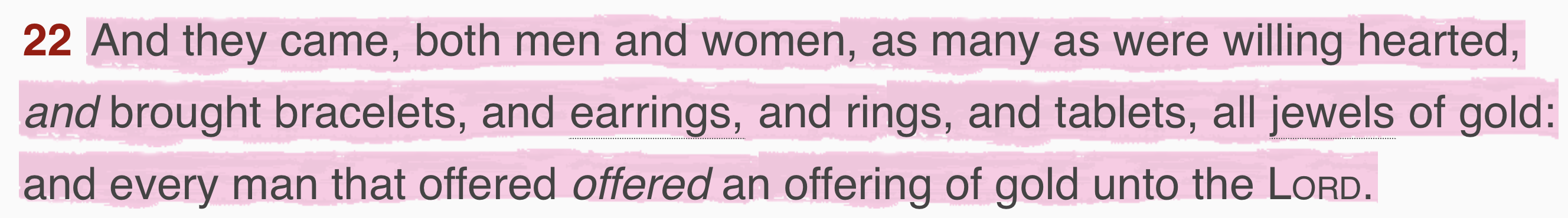 Offering out of jewelry (Exodus) - Should Christians Wear Jewelry